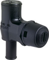 Attwood - Gas Vent, 90°, Black w/White Vent Head, Bulk (1671-1)