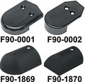 Taco Metals  - Nylon End Caps, Black, F/V11-3447, Pair (F90-0002BKN-1)