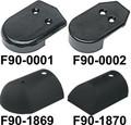 Taco Metals  - Nylon End Caps, Black, F/V11-2423, Pair (F90-0001BKN-1)