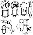 Actuant Electrical - #211-2, Festoon,12CP,12V, CD/ 2 (522112)