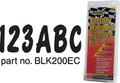 Hardline - Letter/Number Set, Black (BLK200EC)