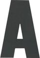 Hardline - Letter, B, White (PKG 10) (3SCWPB)