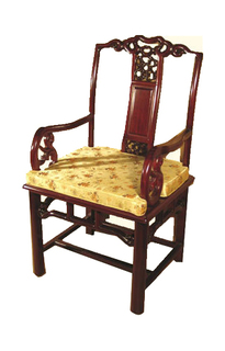 Rosewood Arm Chair Carved Peking Style