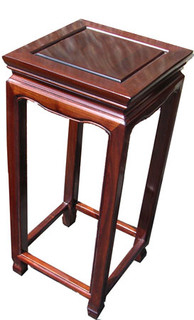 """22"""" Stylish solid rosewood Chinese Ming style flower stand"""