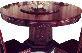 Dining Room Table with Lazy Susan