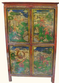 31 1/2 inch wide Tibetan book cabinet