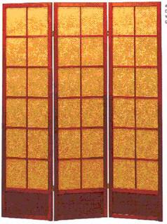 Bejing dragon. 3-panel hard back fabric screen or room divider