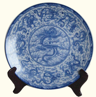 Porcelain plate with stand