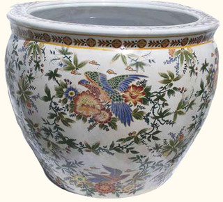 Chinese porcelain fishbowl