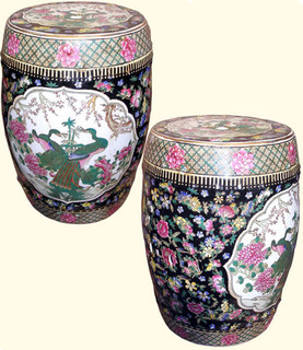 18 inch high porcelain garden stool