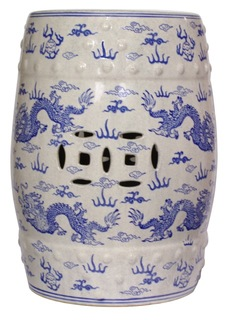 Blue and white porcelain stool