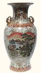 36  inch high Satsuma temple Vase