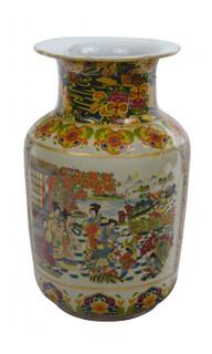 Chinese Porcelain Vase in Japanese Satsuma Palace Design