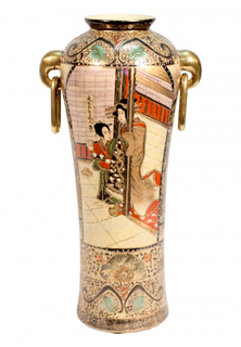 "15""H Japanese Porcelain  Vase"