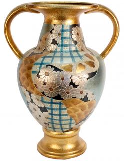 """14""""H Japanese Imari Trophy Porcelain Vase"""