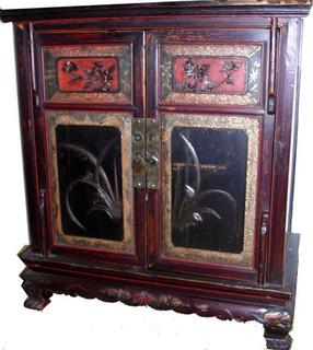 Fujian Antique two door shoe cabinet