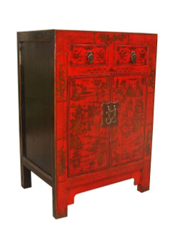 Chinese red cabinet