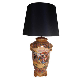 Satsuma Porcelain Lamp