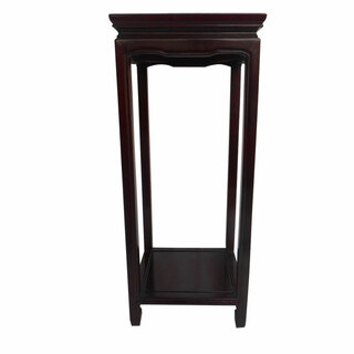 Asian Ming Style Flower Stand With Shelf