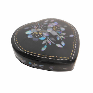 Black Lacquer Asian Pill Box