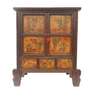 Tibetan carved cabinet