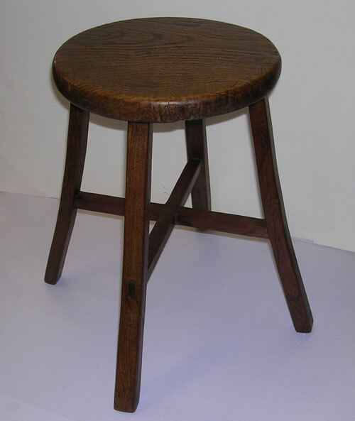 4 Legged Stool ~ Four legged chinese antique stool oriental furnishings