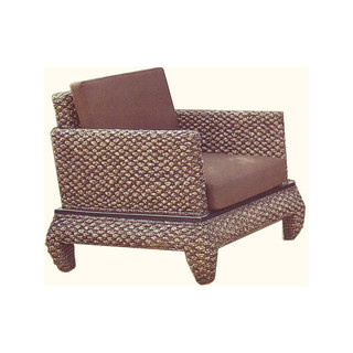 Asian Rattan Banana Leg Living Room Chair
