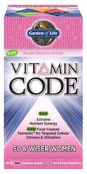 Multivitamin Women 50 & Wiser Vitamin Code 120 Caps