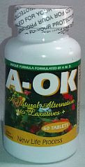 A OK  Natural Laxatives 60 Tablets