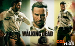CGL TOYS 1/6 Scale Walking Dead Rick Grimes Head Sculpt + Costume Set