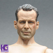 Custom 1/6 Scale Bruce Willis Figure Head Sculpt-John Mcclane