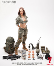 VERYCOOL VCF-2026 1/6 ACU Camo Sexy Female Shooter
