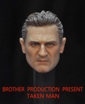 Brother Production Custom 1/6 Scale Head Sculpt- Liam Neeson from Taken