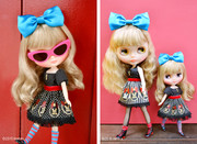 "Takara 8"" NEO CWC Middie Blythe Doll Melanie Unique Girl"
