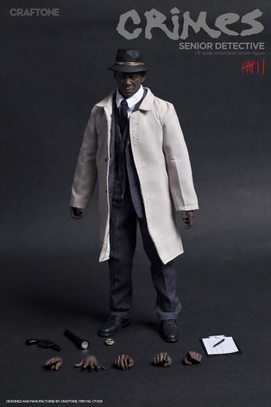 CRAFTONE Seven Morgan Freeman Crime-Senior Detective CT009 1/6 Action Figure