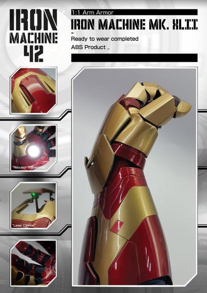 1:1 Iron Man Mark 42 Arm Armor