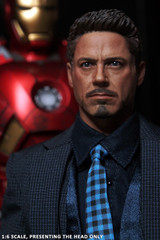 Custom 1/6 Scale Tony Stark Head sculpt Ver 5.0