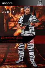 80s Toys: H80001 1/6 Resident Evil-Chris Redfield Figure (Zebra Suit Version)