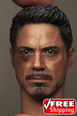 Supreme 1/6 Scale Tony Head sculpt Battle Damaged Version TS003
