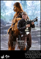Hot Toys MMS376 Star Wars: The Force Awakens 1/6th scale  Han Solo & Chewbacca Collectible Figure set