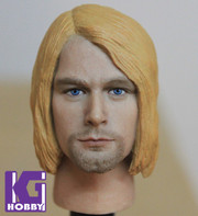 1/6 Action Figure Head Play Head Sculpt- Kurt Cobain Nirvana