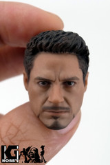 Custom 1/9 Scale Male Tony Head Sculpt Version 2