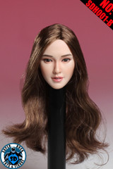 SUPER DUCK SDH001-B  1/6 Scale Asian Girl Head Sculpt Brown  Hair