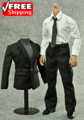 ZYTOYS 1/6 scale MIB Men in Black Suit + White Shirt + Tie Set