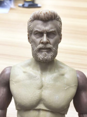 Burning Soul 1/6 Scale Hugh Head Sculpt - No Neck Painted Version