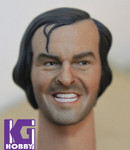 1/6 Action Figure Head Play Head Sculpt-Jack Nicholson Shining