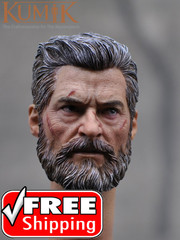 Kumik 16-55 1/6 scale Battle Damaged Old Male Head Sculpt