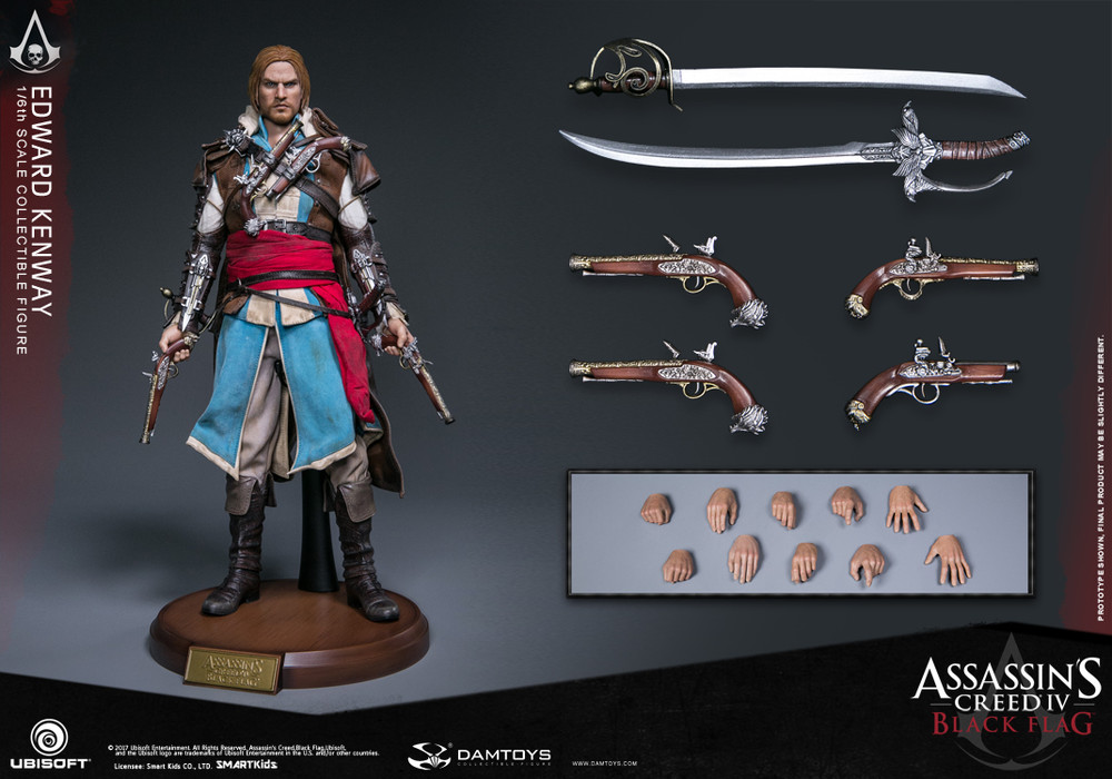 Damtoys DMS003 Assassin's Creed IV:Black Flag 1/6th scale Edward Kenway Collectible Figure