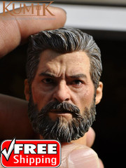 Kumik 16-54 1/6 scale Battle Damaged Old Male Head Sculpt