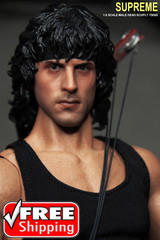 Supreme 1/6 Scale Rambo Head sculpt
